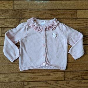 Pink Ruffle Sweater